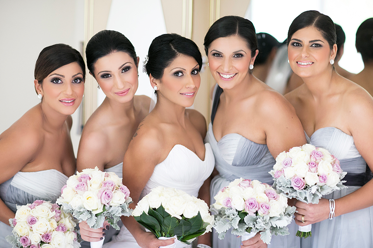 Elegant Bridal Party Makeup