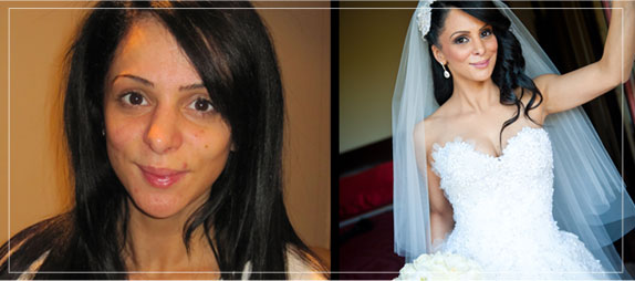 Bella For Makeups Portfolio Before and After of Wedding Makeup