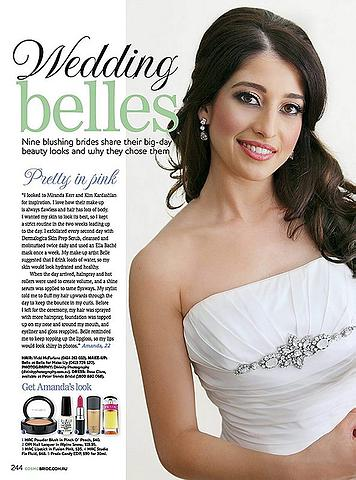In the press bridal makeup by Bella For Makeup Artist in Sydney