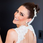Danika's beautiful bridal makeup done by Bella For Makeup
